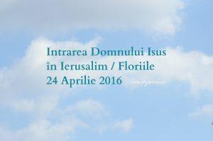 Intrarea Domnului Isus în Ierusalim, 24 Aprilie 2016