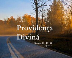 Geneza 28.10-22, Providenţa Divină
