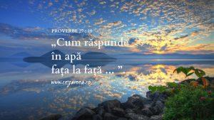 Proverbe 27.19, Cum răspunde în apă, faţa la faţă