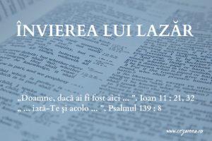 Învierea lui Lazăr, Ioan 11